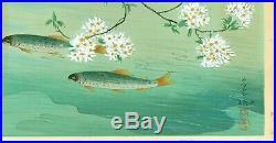 Ohno Bakufu Japanese Woodblock Print Rainbow Trout Familiar Fishes of Japan