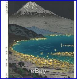 Okada Koichi P3 Nihondaira no Fuji Yakei -Japanese Traditional Woodblock Print