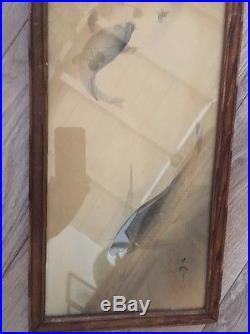 Old Estate Japanese Woodblock Print Koson Fish Artist Marks Shoson Japan koi
