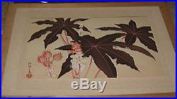 Old Japanese Woodblock Print Uchida