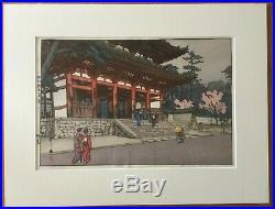 Omuro by Hiroshi Yoshida (1876-1950). Japanese Woodblock. No reserve