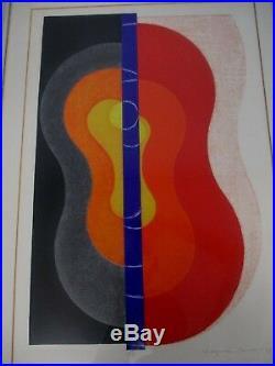 Original 1969 Signed Kazumi Amano Japanese Woodblock Abstract Lmt Ed 11/30