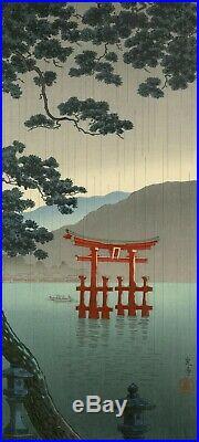 Original woodblock print Tsuchiya Koitsu (1870-1949) Miyajima in Aki