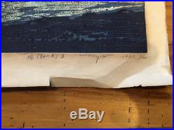 Pair of 2 Vintage 1970 Japanese WOODBLOCK Print Fumio FUJITA, Signed, 1/100