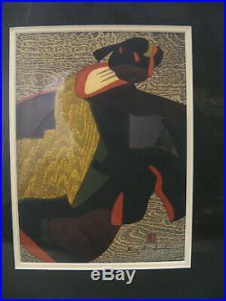 Pair of Kiyoshi Saito Japanese Woodblock Prints Geisha 1960 Modern Master