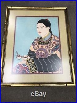 Paul Jacoulet 1950 Japanese Woodblock Print Signed. Le Mandarin Aux Lunettes