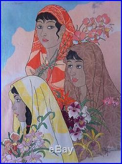 Paul Jacoulet Japanese Woodblock print -Retour de La Jungle- Celebes 1948