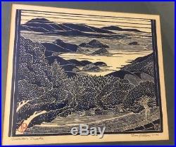 RARE 74 Tom Killion Mountain Theatre Japanese Woodblock Style Print Northern CA