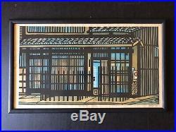 RARE Clifton Karhu Original Woodblock Old House In Kyoto'69 Pencil Signed 41/50