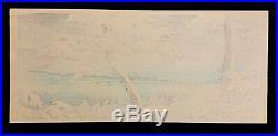 RARE Tsuchiya Koitsu Japanese Woodblock Print Snow Unidentified Title