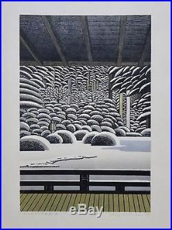 RAY MORIMURA Japanese Woodblock Print JAPANESE GARDEN (WINTER) PORTLAND 2017