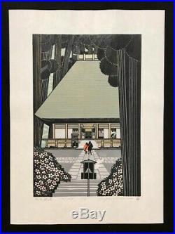 RAY MORIMURA Japanese Woodblock Print SHIOFUNE KANON