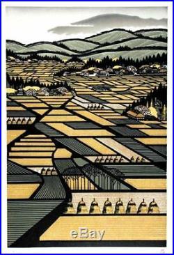 RAY MORIMURA Japanese Woodblock Print Shipped From Japan MT GASSAN