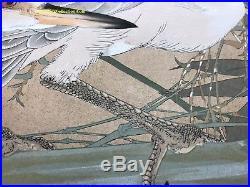 Rare FIRST EDITION Japanese Woodblock Print by Rakusan Kachou Gafu 100 Series