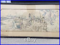 Rare Original Antique Hokusai 18th Century Japanese Ukiyo-e Woodblock Print