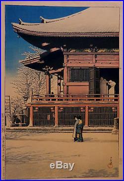 Rare Original l926 Woodblock Print by Kawase Hasui
