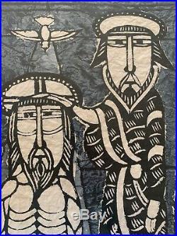 SADAO WATANABE Artist Proof Baptism of Jesus ORIGINAL JAPANESE 1968 22 x 25