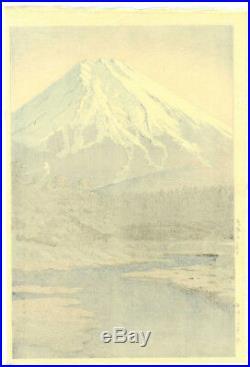 STUNNING! 1942 Kawase Hasui Mt. Fuji, Oshino Original Japanese Woodblock Print