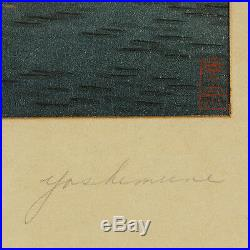 Sailboats by Moolight By Yoshimune Arai Japanese Woodblock Print 16x12