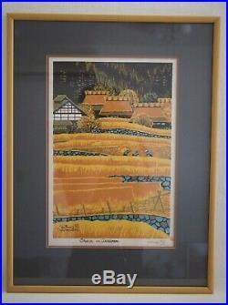 Shiro Kasamatsu Japanese Woodblock Print Ohara in Autumn 1971 #54/100