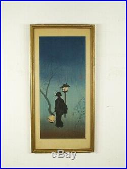 Shotei Takahashi (Japan, 1871-1945) Spring Evening Japanese Woodblock Print