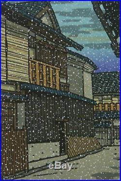 Signed Japanese Woodblock Print Katsuyuk Nishijima Yukimoyo It Looks Like Snow