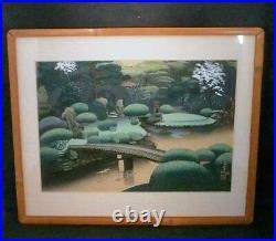 Spectacular Bakufu Ono (1888-1976) Japanese Woodblock Print