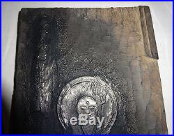 Super Rare 1883 Japanese Buddhist Hangi Woodblock Ksitigarbha Buddha God Zen