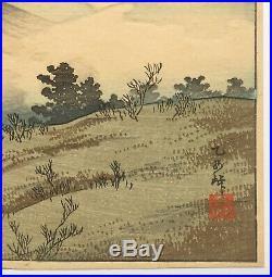 TAKAHASHI SHOTEI (HIROAKI) Japanese Woodblock Print Otome Mountain Pass 1932