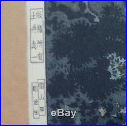 TSUCHIYA KOITSU-Japanese Woodblock Print-UENO PARK-1935-First Edition-EXCELLENT