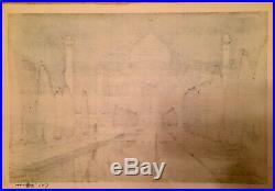 Taj-Mahal Night No2 Japanese woodblock print by Hiroshi Yoshida