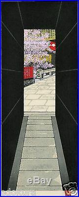Teruhide KATO JAPANESE Woodblock Print HANGA HANA-ROJI