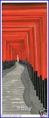 Teruhide KATO JAPANESE Woodblock Print HANGA SENBON TORII