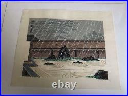 Tomikichiro Tokuriki Japanese Woodblock print Ryuanji