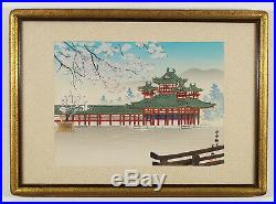Tomikichiro Tokuriki, Set of 4 Japanese Woodblock Prints, Nicely Framed