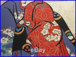 Torii Kiyotada IV Orig Japanese KABUKI OBAN Woodblock Print DOJOJI Temple
