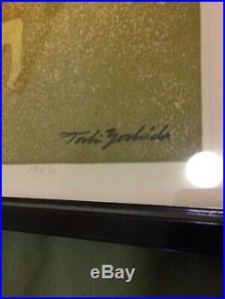Toshi Yoshida 1964 original woodblock abstract print Fantasy