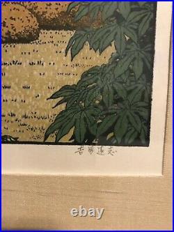 Toshi Yoshida Friendly Garden Woodblock Prints All 3 Pine, Bamboo And Plum trees