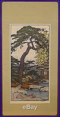 Toshi Yoshida (Japanese 1911-1995) Original Woodblock Print Signed
