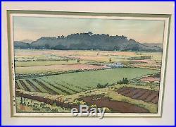 Toshi Yoshida Japanese Woodblock Print Hikone Castle In Spring Vintage Japan Art