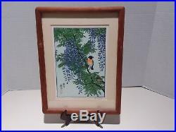 Toshi Yoshida Japanese Woodblock Print Set Franklin Mint Bird Series Signed Rare