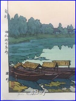 Toshi Yoshida Japanese Woodblock Print Yodo River