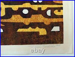 Toshi Yoshida Oversize Abstract Original Color Woodblock Print Goyaku