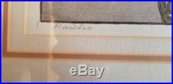 Toshi Yoshida Raicho 1930 Japanese Woodblock Print Hand Signed 9x14