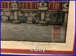 Toshi Yoshida signed Woodblock print Nikko Beautifully framed autograph