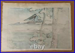 Tsuchiya Koitsu (1870-1949) Lake Kawaguchi 1933 Japanese Woodblock Print Japan