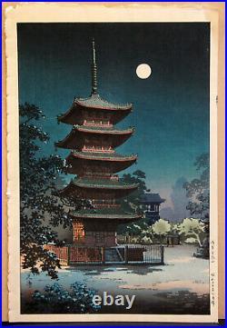 Tsuchiya Koitsu Kinryuzan Temple Antique Japanese Woodblock Print