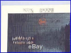 Tsuchiya Koitsu Rain at Miyajima Original 1941 Japanese Woodblock Print Japan