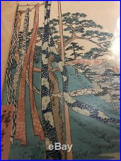 UTAGAWA HIROSHIGE original woodblock print Narumi series the 53 stations