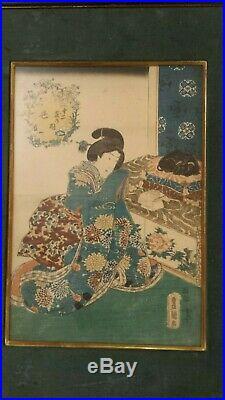 Utagawa Toyokuni, A Young Girl, Ukiyo-e, Original Japanese Woodblock Print